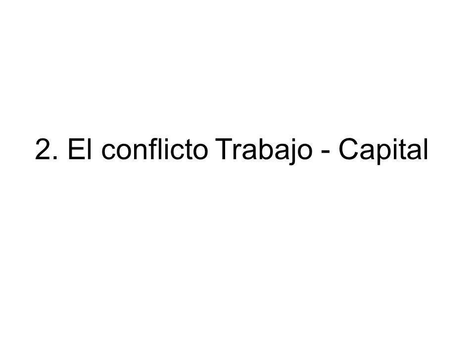 2. El conflicto Trabajo - Capital