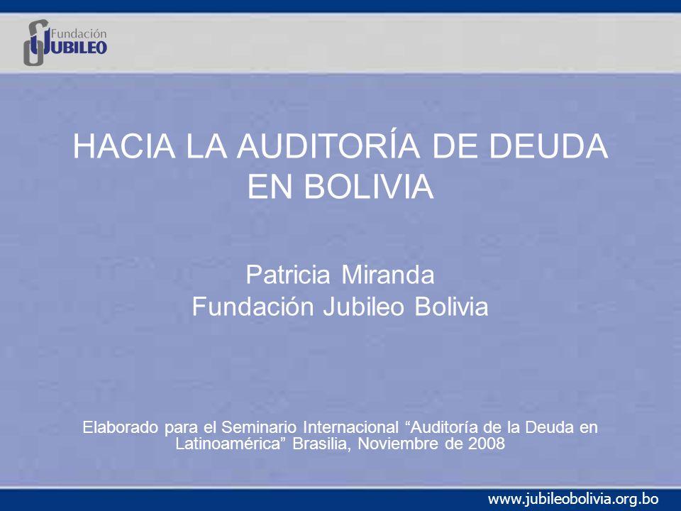 HACIA LA AUDITORÍA DE DEUDA EN BOLIVIA