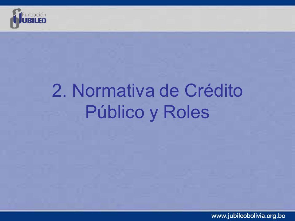 2. Normativa de Crédito Público y Roles