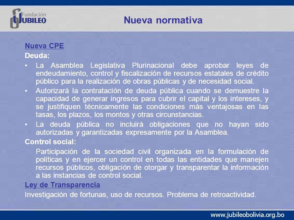 Nueva normativa Nueva CPE Deuda: