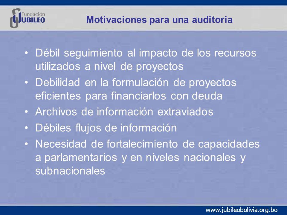 Motivaciones para una auditoria