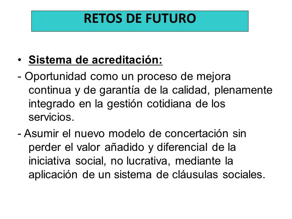 RETOS DE FUTURO Sistema de acreditación: