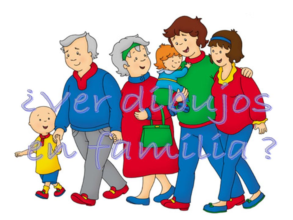 ¿Ver dibujos en familia