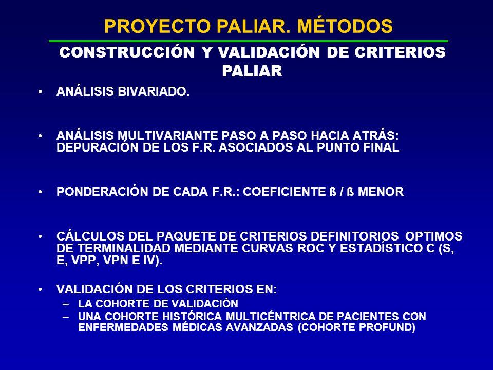 PROYECTO PALIAR. MÉTODOS CONSTRUCCIÓN Y VALIDACIÓN DE CRITERIOS PALIAR