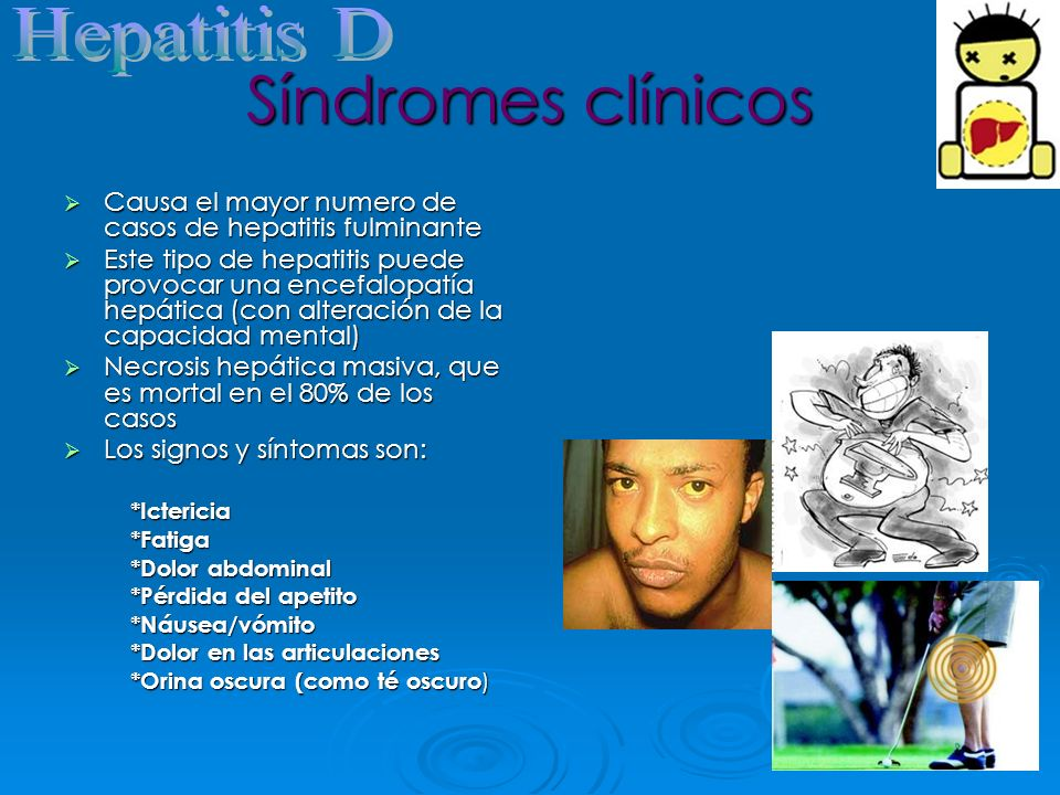 Síndromes clínicos Hepatitis D