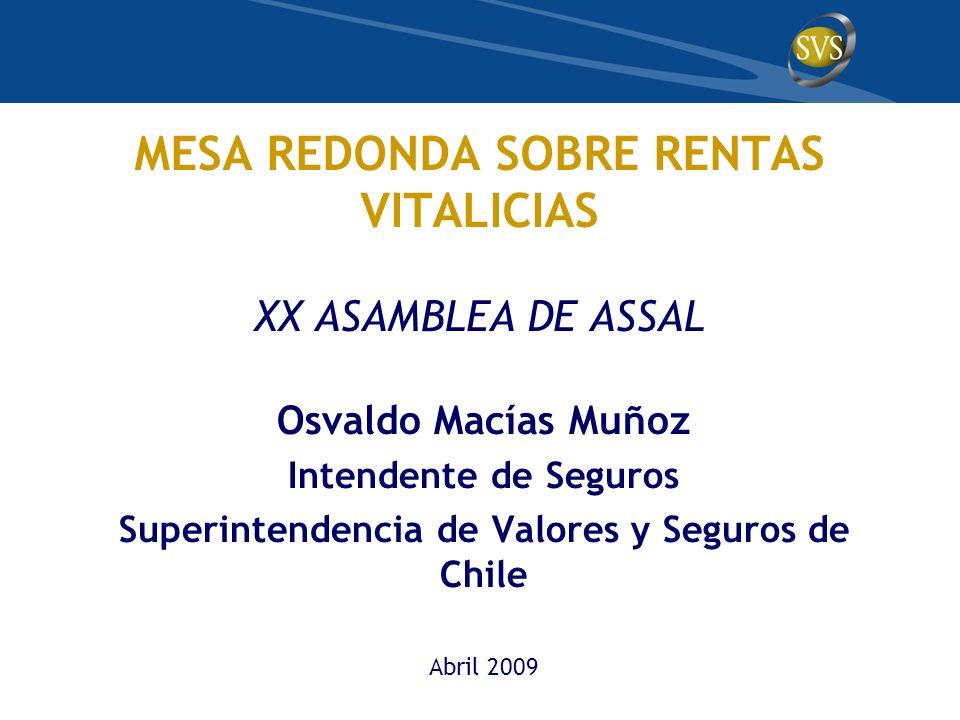 MESA REDONDA SOBRE RENTAS VITALICIAS XX ASAMBLEA DE ASSAL