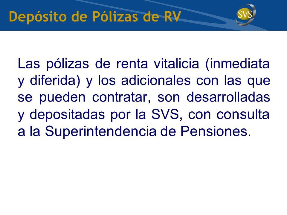 Depósito de Pólizas de RV