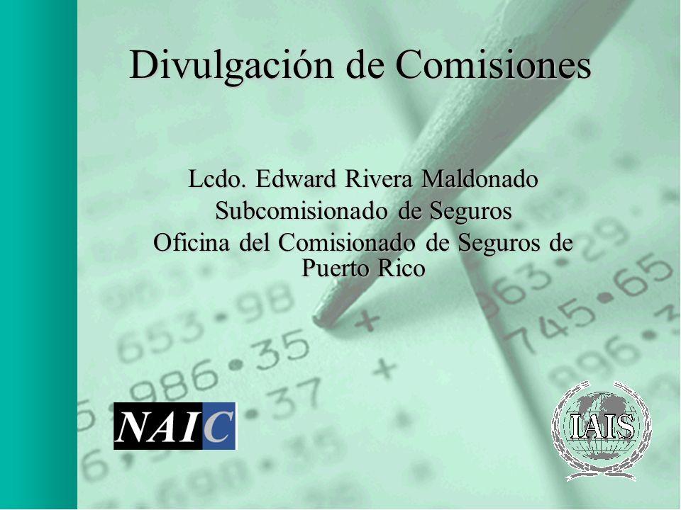 Divulgación de Comisiones
