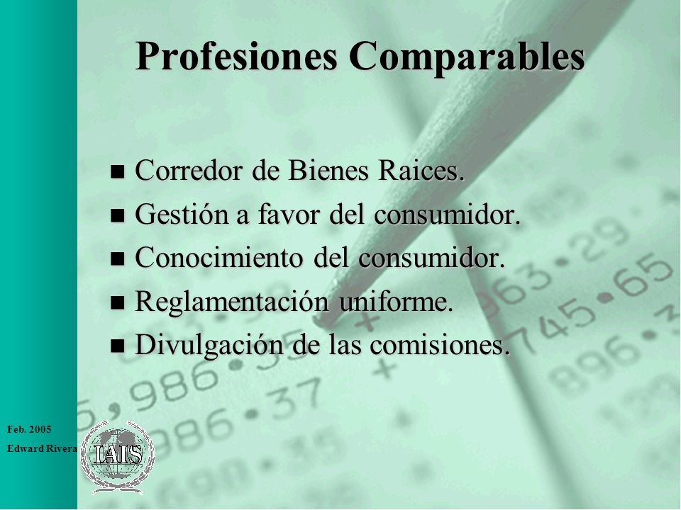 Profesiones Comparables