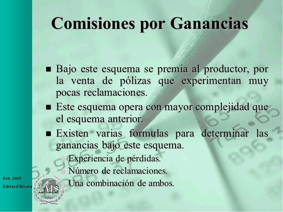 Comisiones por Ganancias
