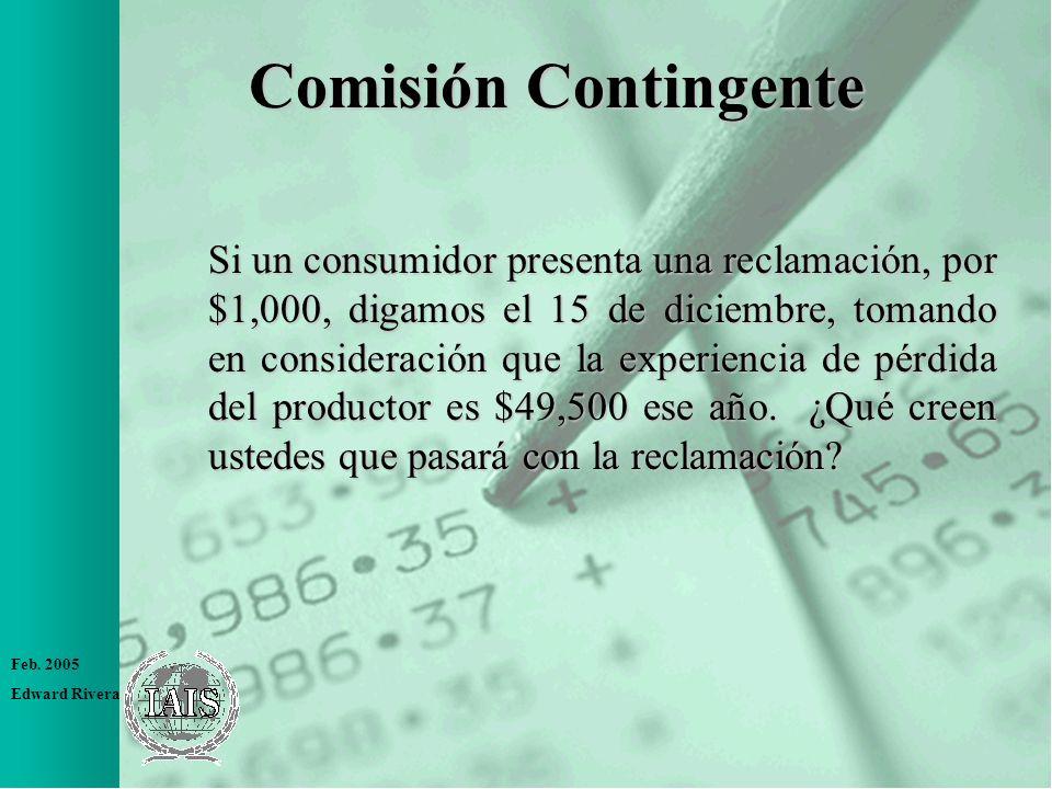 Comisión Contingente