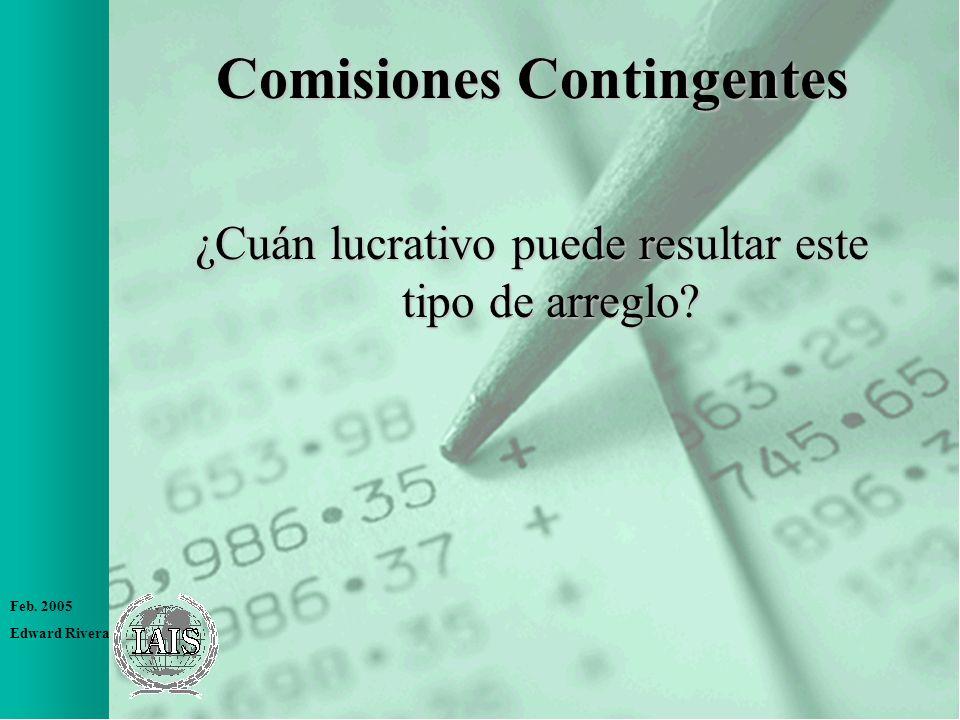 Comisiones Contingentes