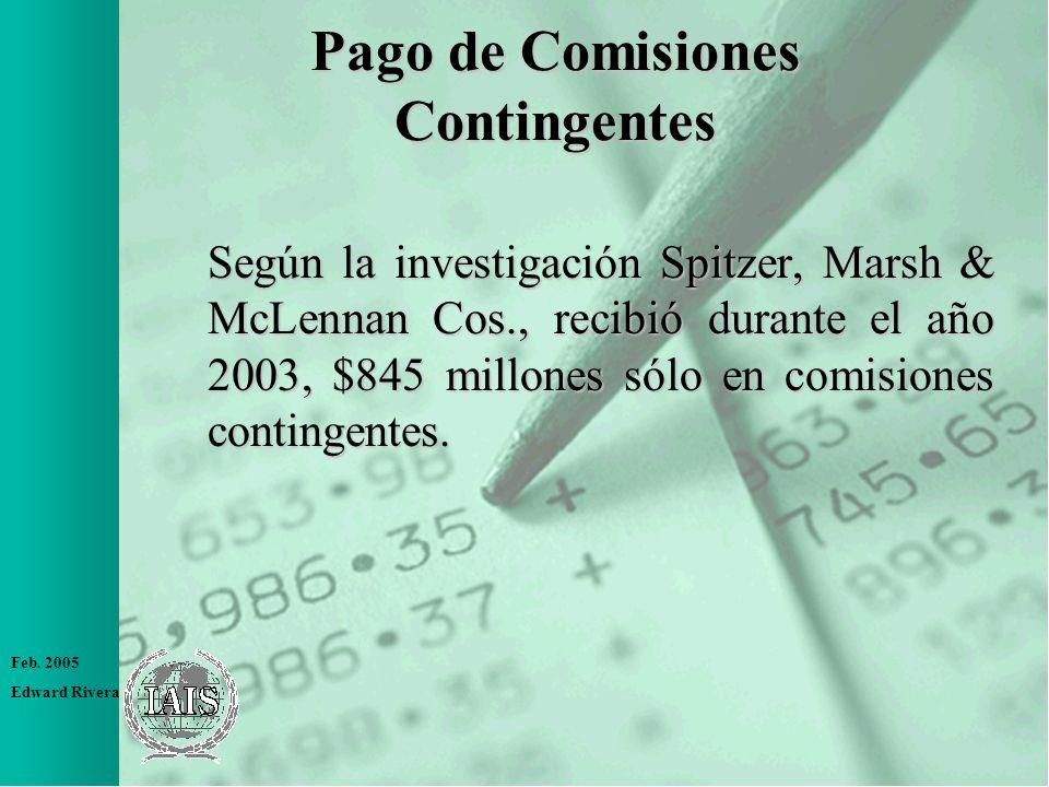 Pago de Comisiones Contingentes