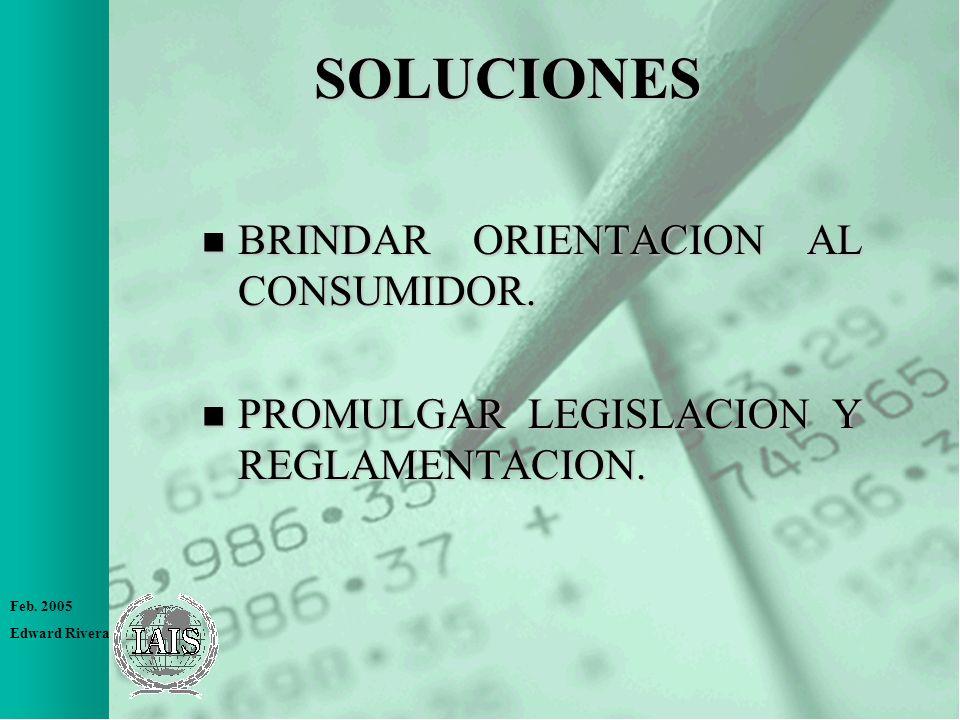 SOLUCIONES BRINDAR ORIENTACION AL CONSUMIDOR.