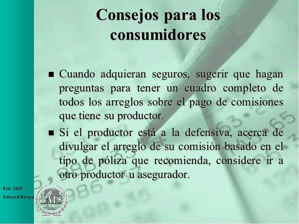 Consejos para los consumidores