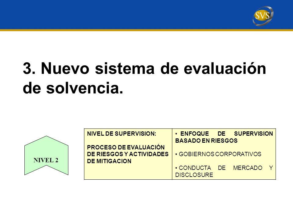 3. Nuevo sistema de evaluación de solvencia.