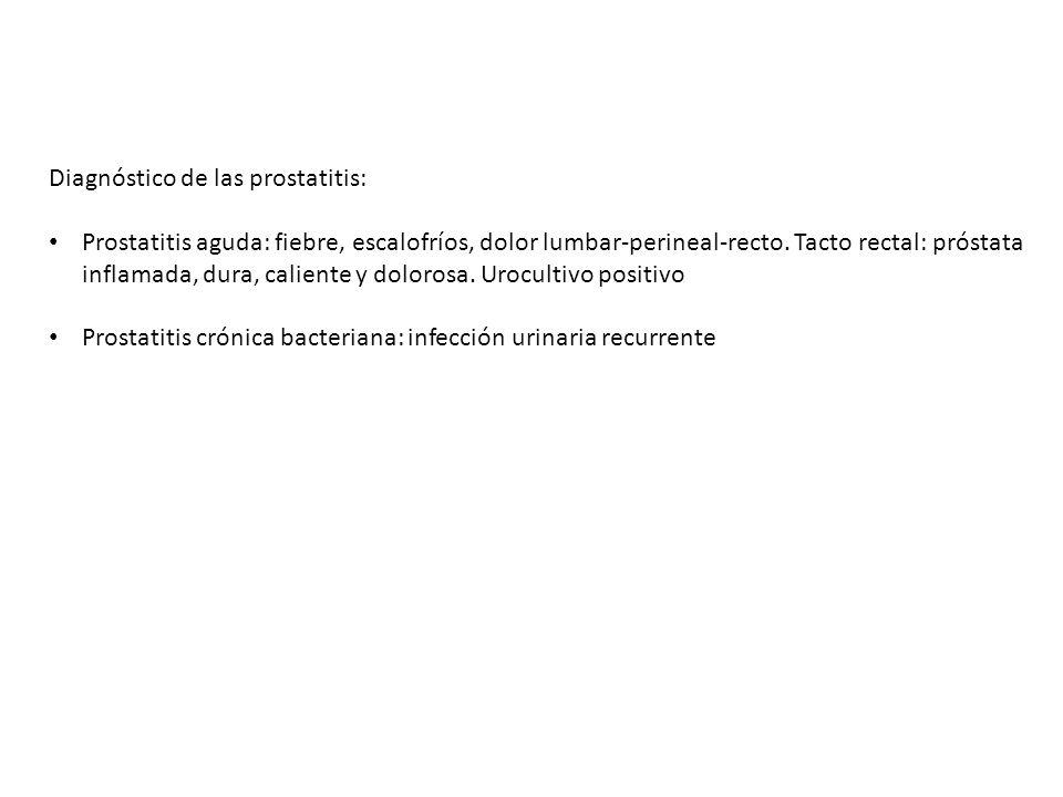 Diagnóstico de las prostatitis:
