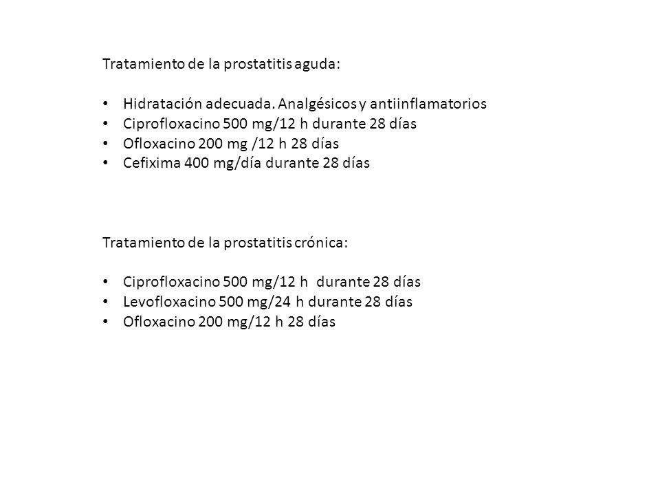 Tratamiento de la prostatitis aguda: