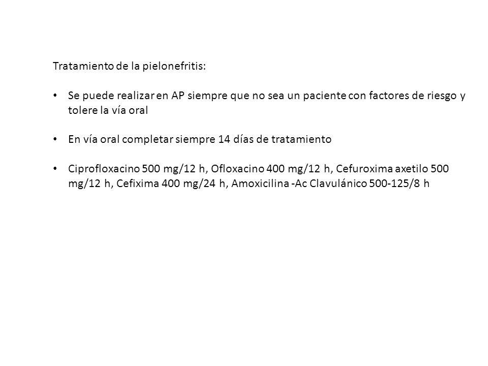 Tratamiento de la pielonefritis: