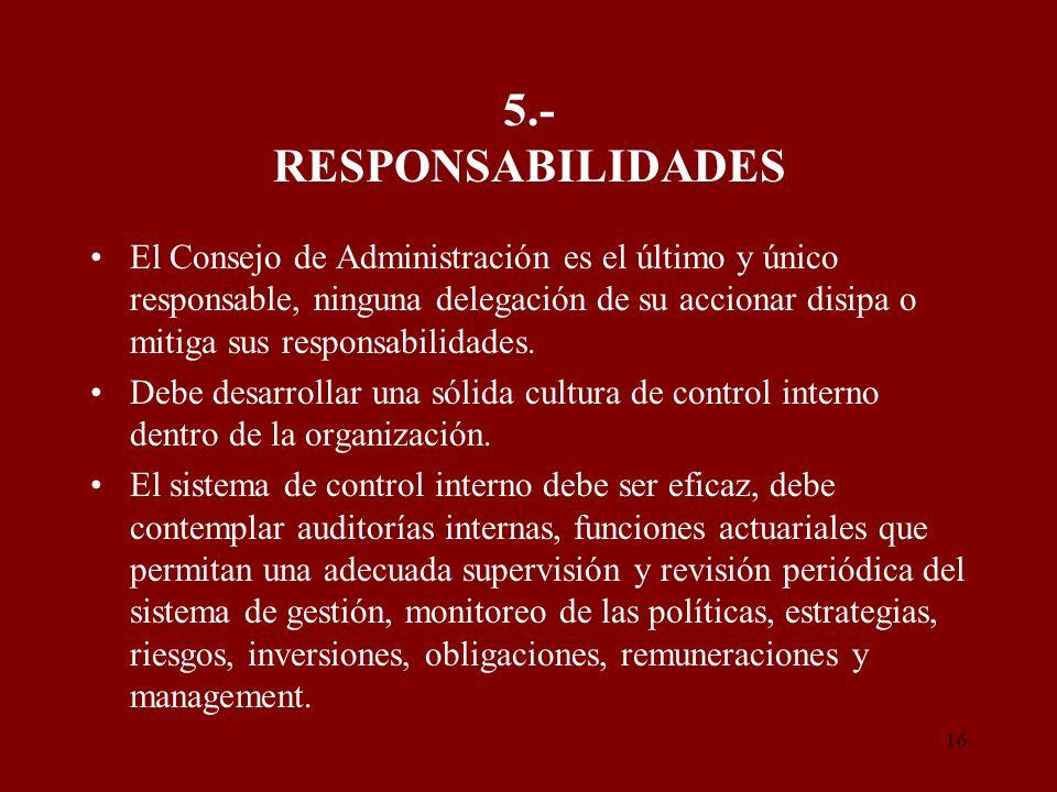 5.- RESPONSABILIDADES