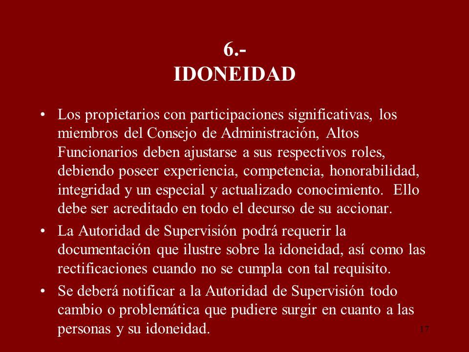 6.- IDONEIDAD