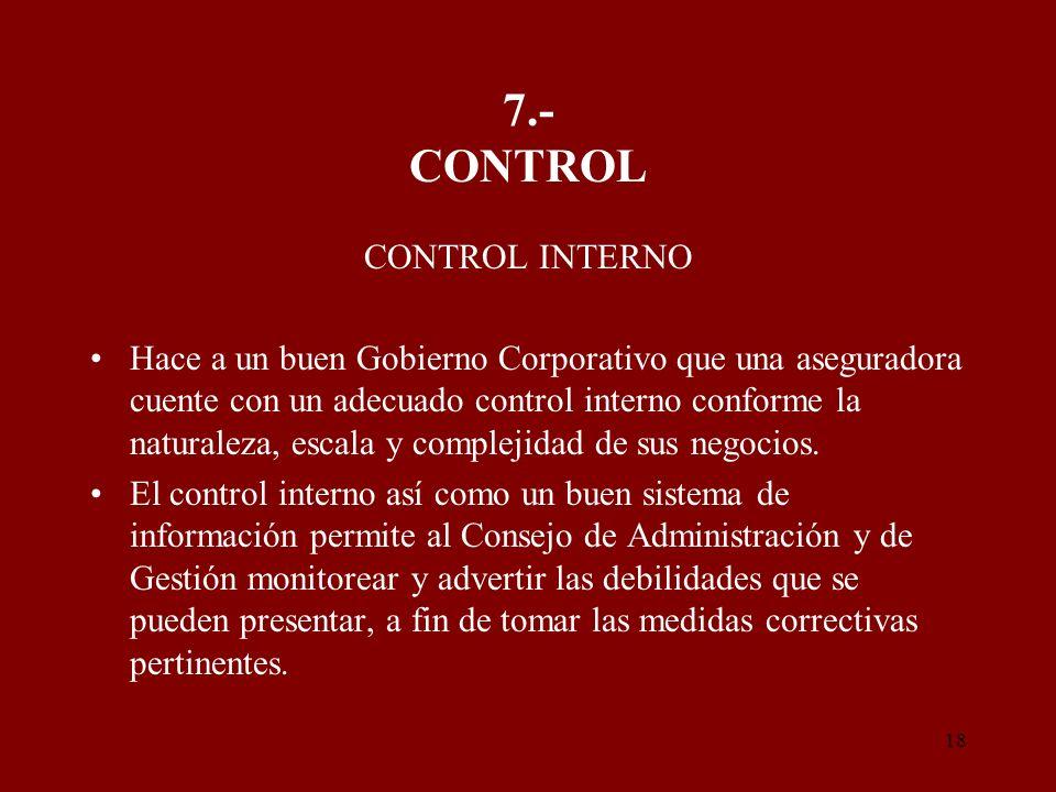 7.- CONTROL CONTROL INTERNO