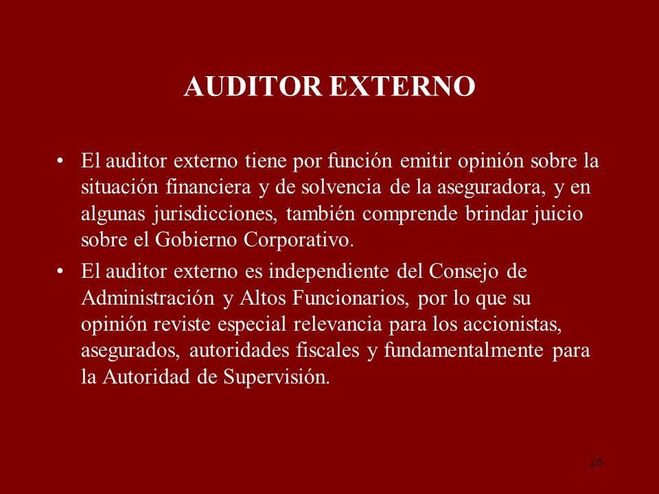 AUDITOR EXTERNO