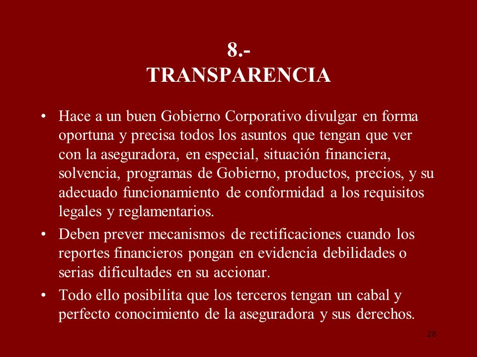 8.- TRANSPARENCIA