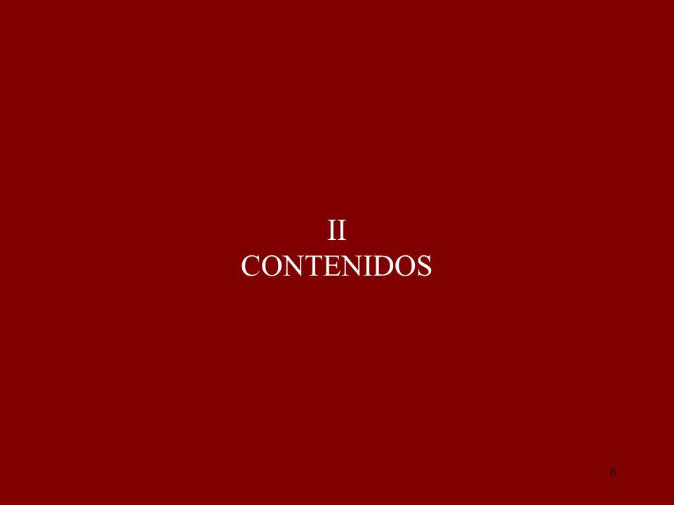II CONTENIDOS