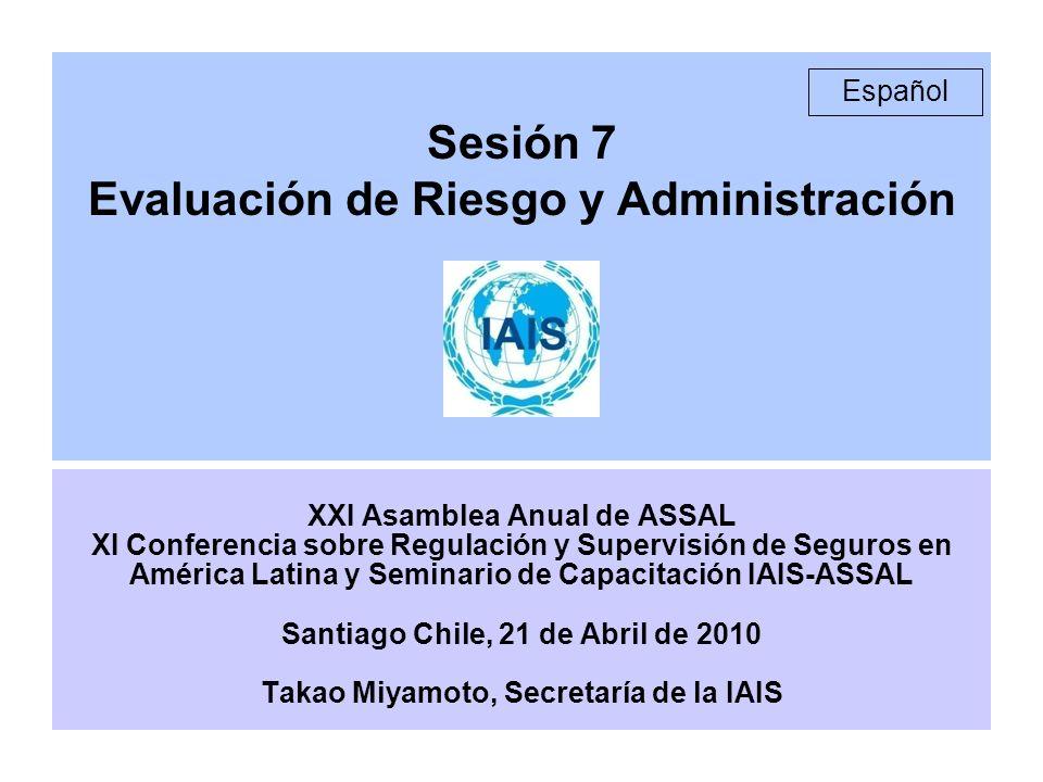 Sesión 7 Evaluación de Riesgo y Administración