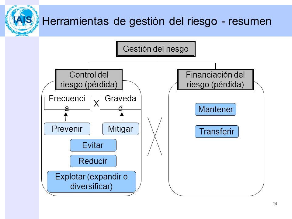 Herramientas de gestión del riesgo - resumen