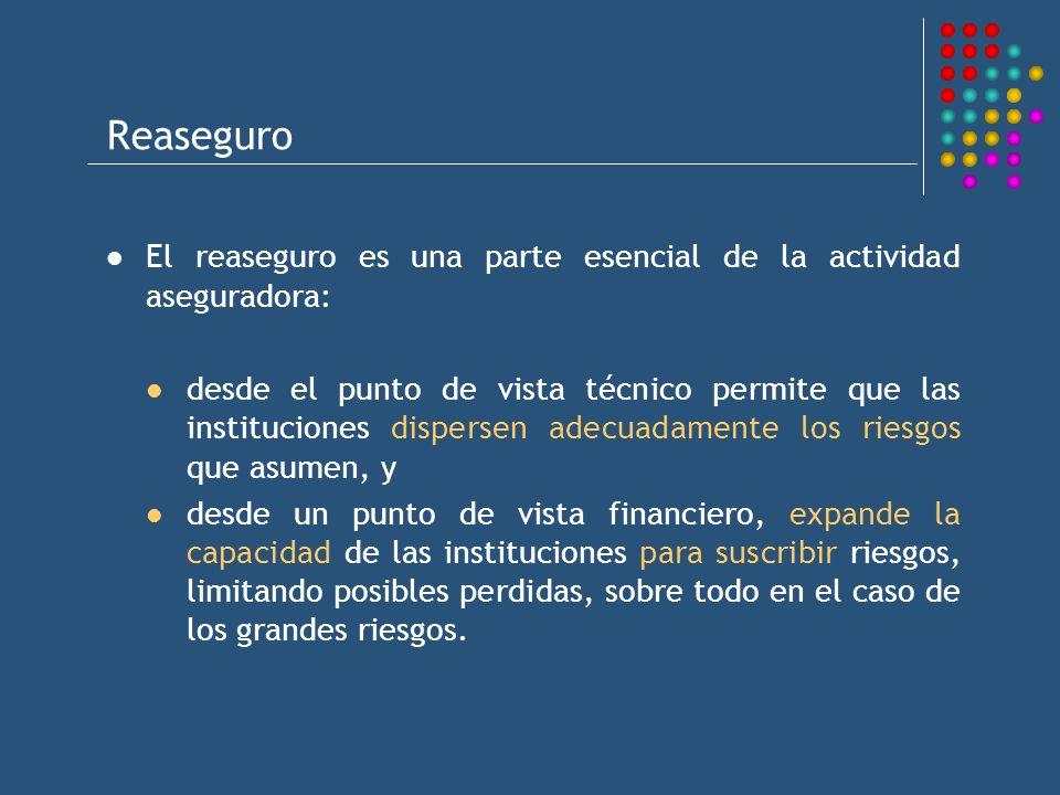 Reaseguro El reaseguro es una parte esencial de la actividad aseguradora: