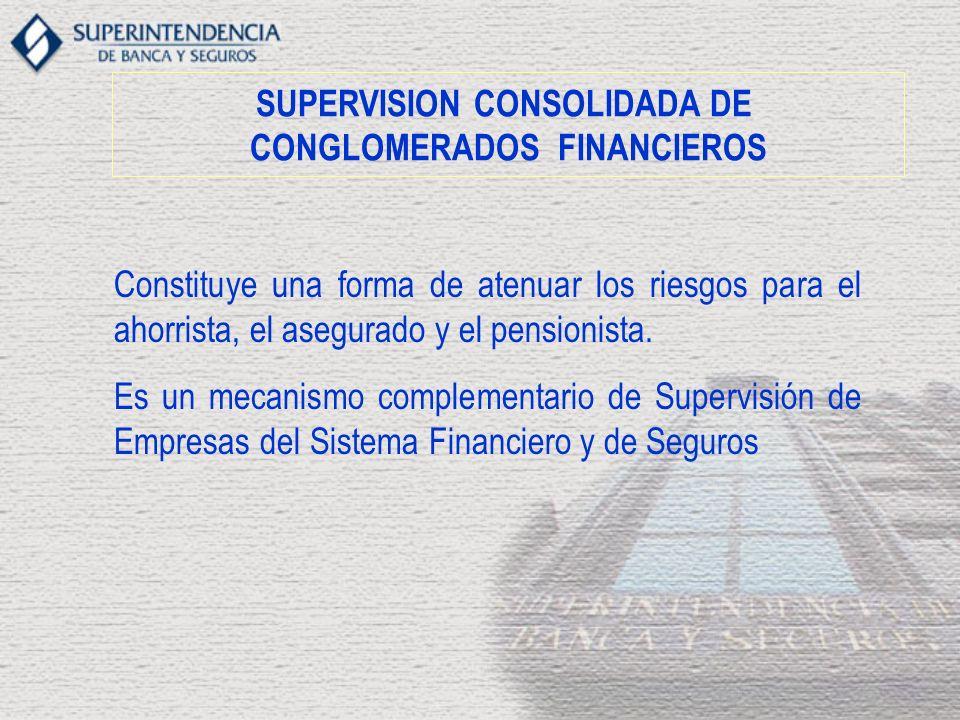 SUPERVISION CONSOLIDADA DE CONGLOMERADOS FINANCIEROS