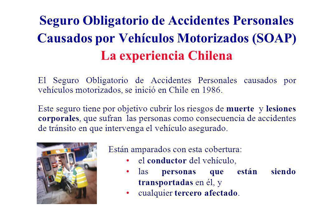Seguro Obligatorio de Accidentes Personales Causados por Vehículos Motorizados (SOAP) La experiencia Chilena