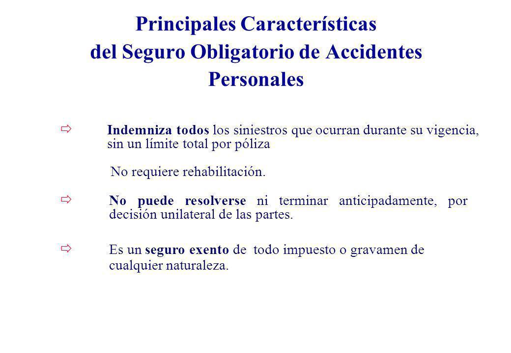 Principales Características del Seguro Obligatorio de Accidentes Personales
