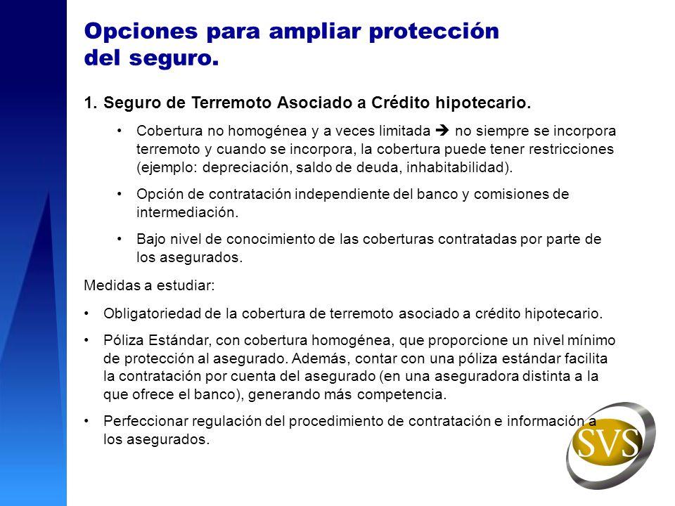 Opciones para ampliar protección del seguro.