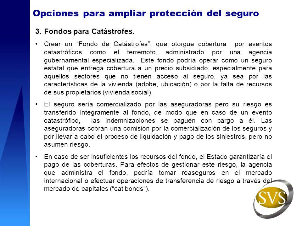 Opciones para ampliar protección del seguro