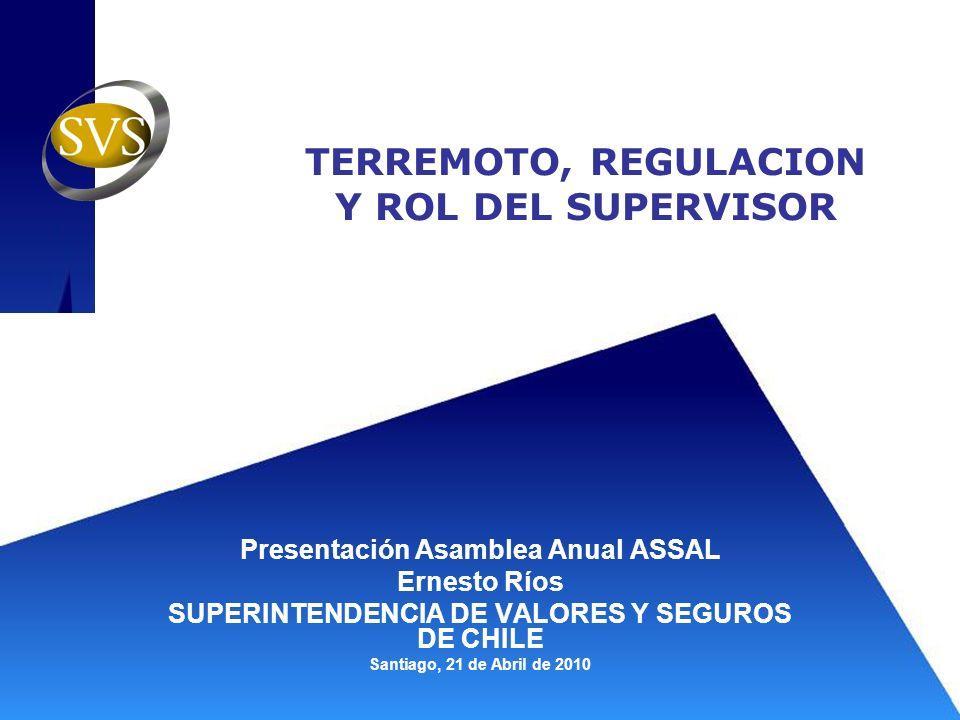 TERREMOTO, REGULACION Y ROL DEL SUPERVISOR