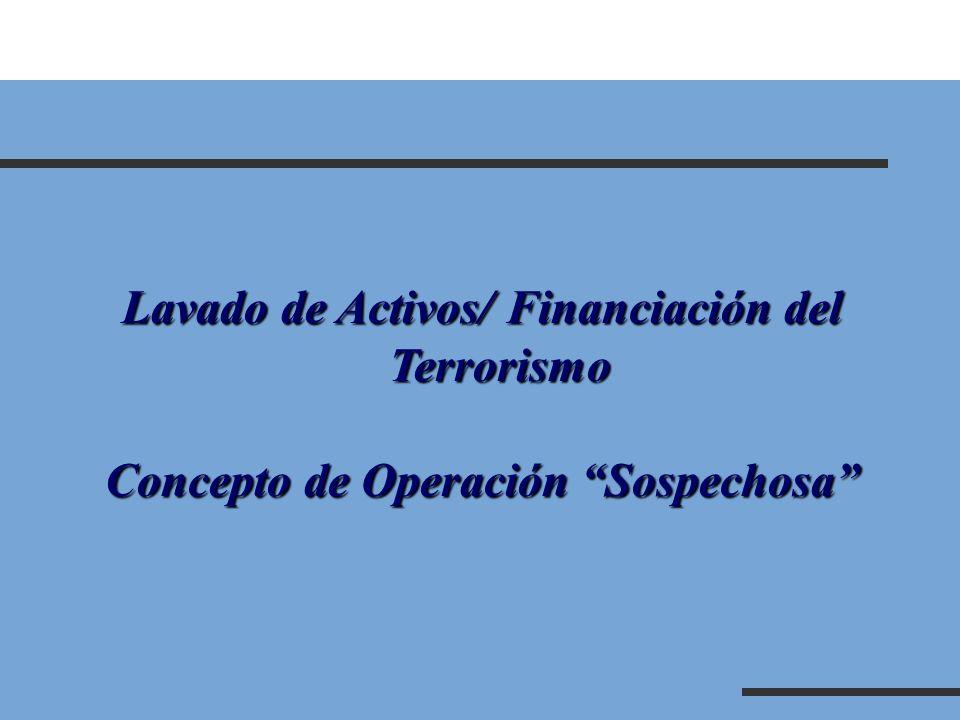 Concepto de Operación Sospechosa