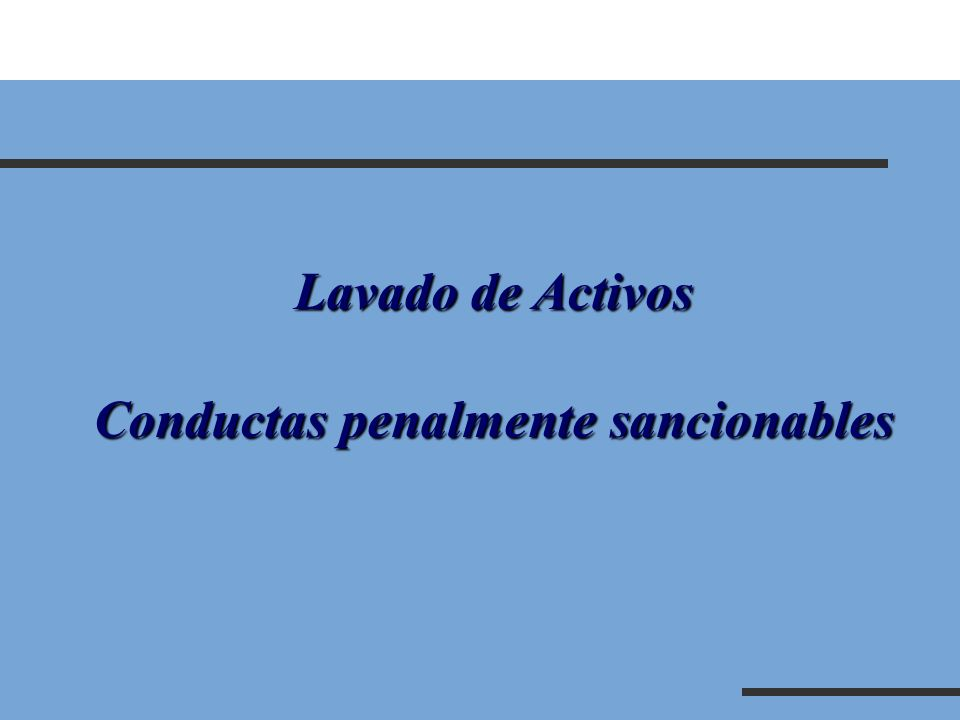 Conductas penalmente sancionables