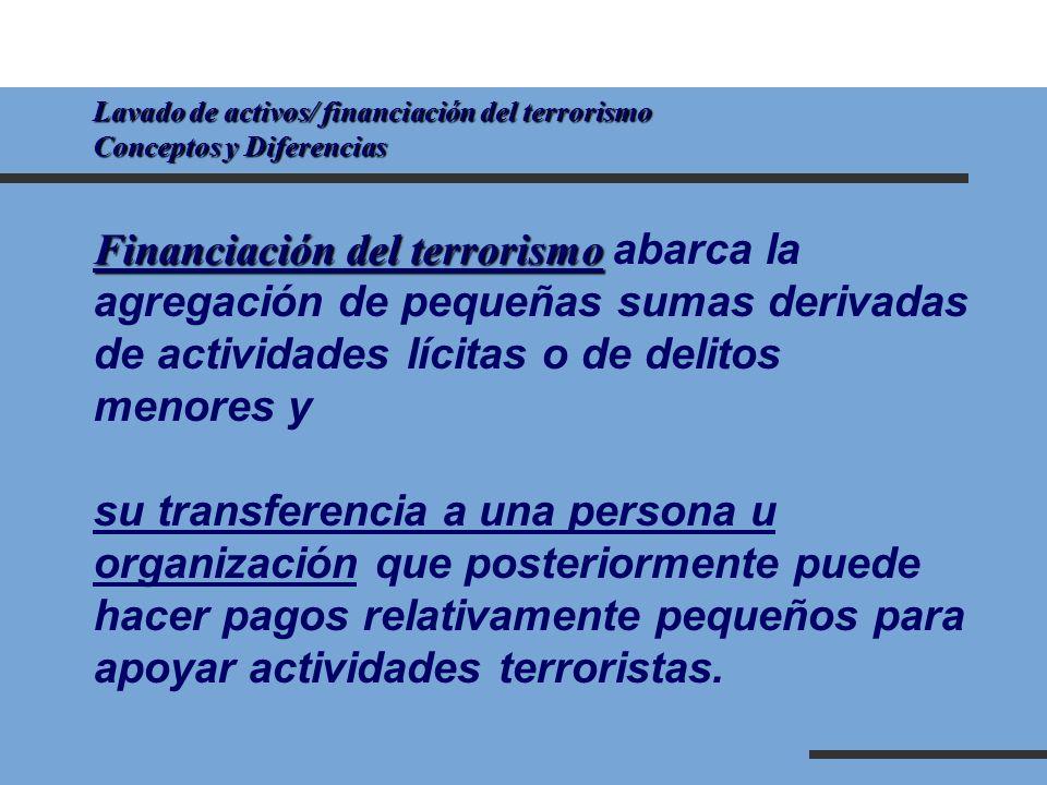Financiación del terrorismo abarca la