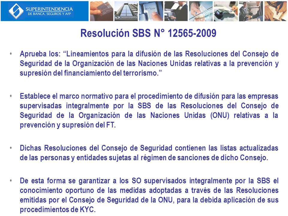 Resolución SBS N° 12565-2009