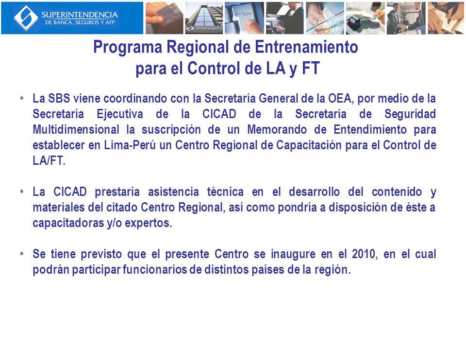 Programa Regional de Entrenamiento para el Control de LA y FT