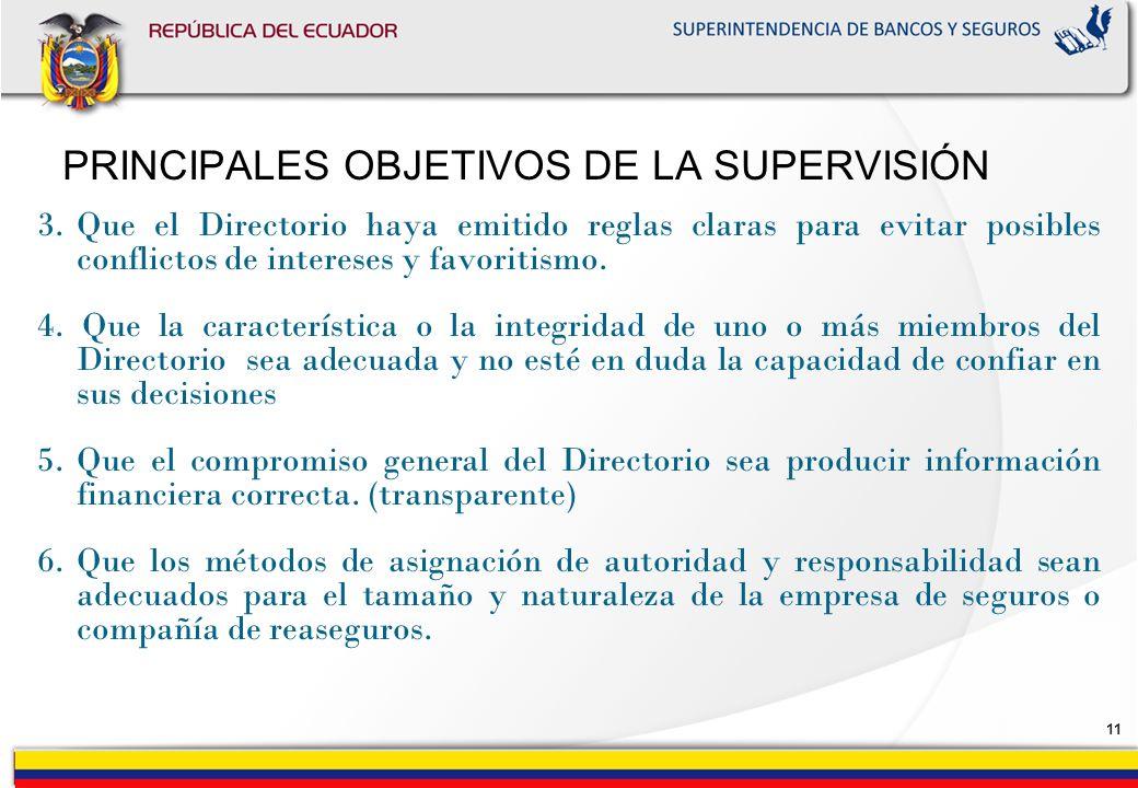 PRINCIPALES OBJETIVOS DE LA SUPERVISIÓN