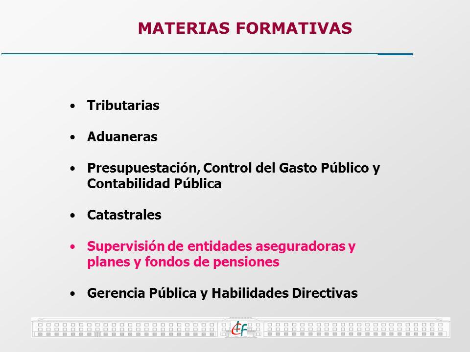 MATERIAS FORMATIVAS Tributarias Aduaneras