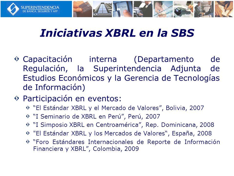 Iniciativas XBRL en la SBS