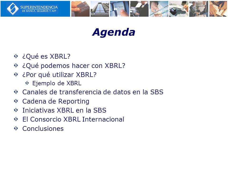 Agenda ¿Qué es XBRL ¿Qué podemos hacer con XBRL