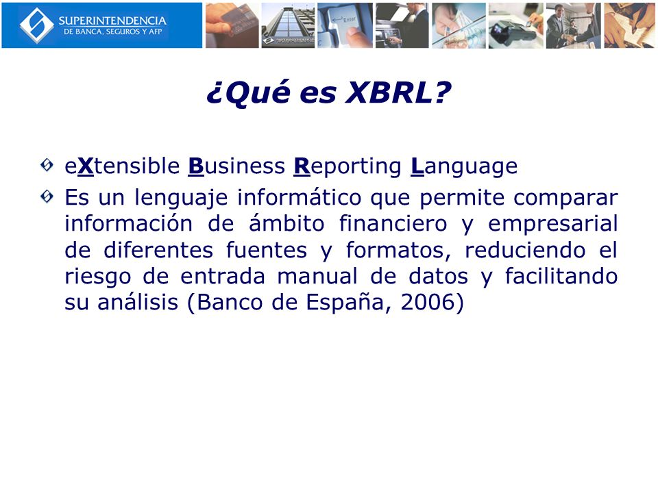 ¿Qué es XBRL eXtensible Business Reporting Language