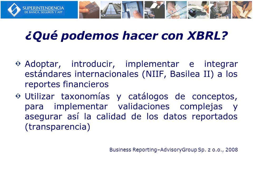 ¿Qué podemos hacer con XBRL
