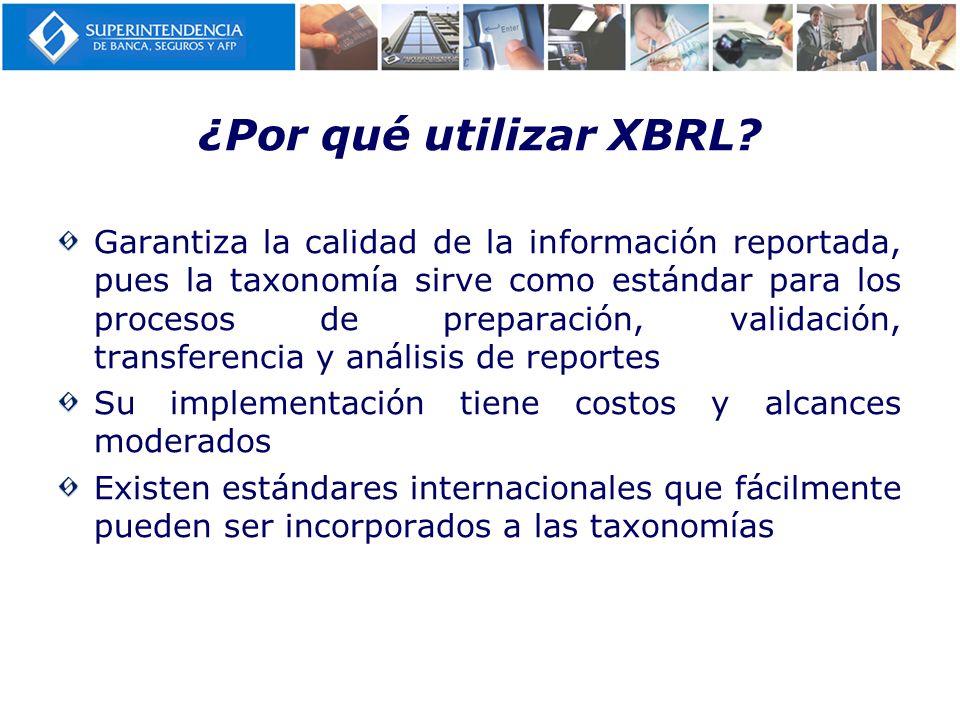 ¿Por qué utilizar XBRL